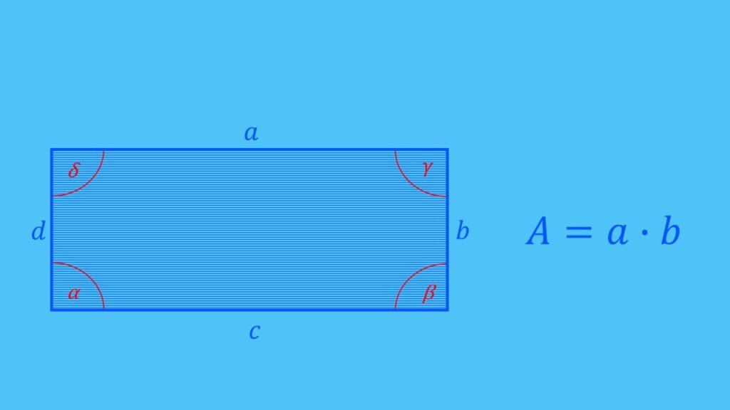 Flächenberechnung Rechteck Formel, Fläche berechnen