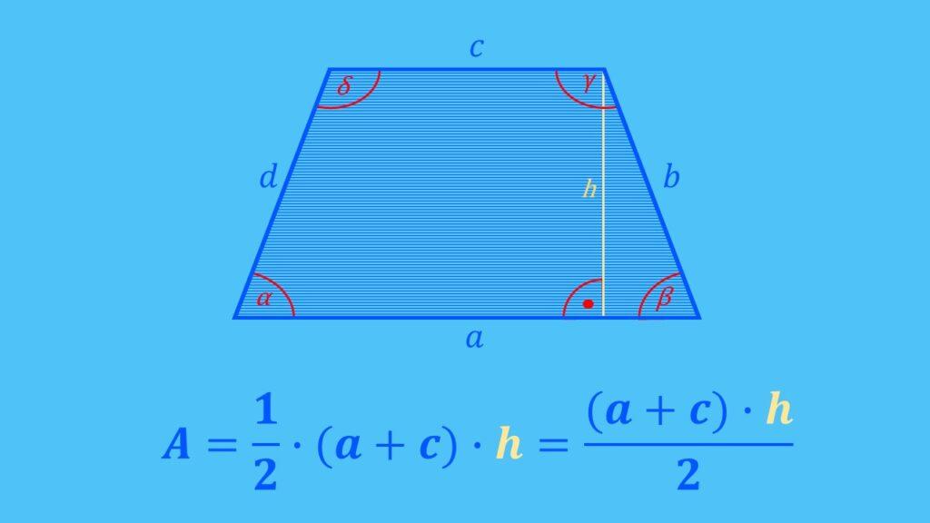 Flächenberechnung Trapez Formel, Fläche berechnen
