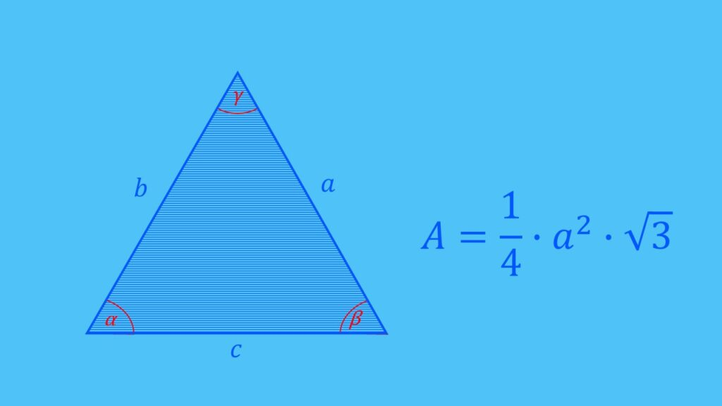 Flächenberechnung gleichseitiges Dreieck Formel, Fläche berechnen