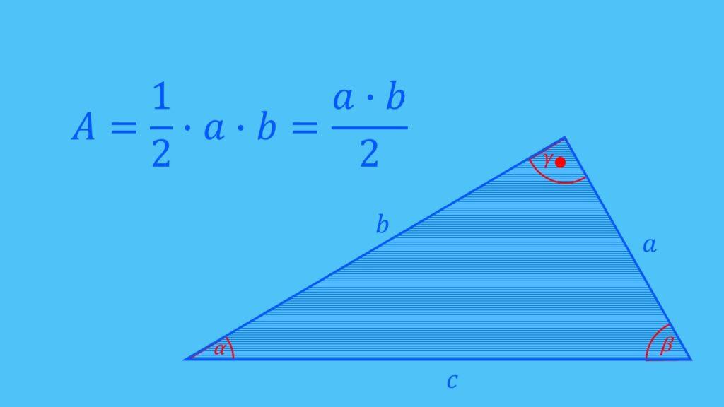 Flächenberechnung rechtwinkliges Dreieck Formel, Fläche berechnen
