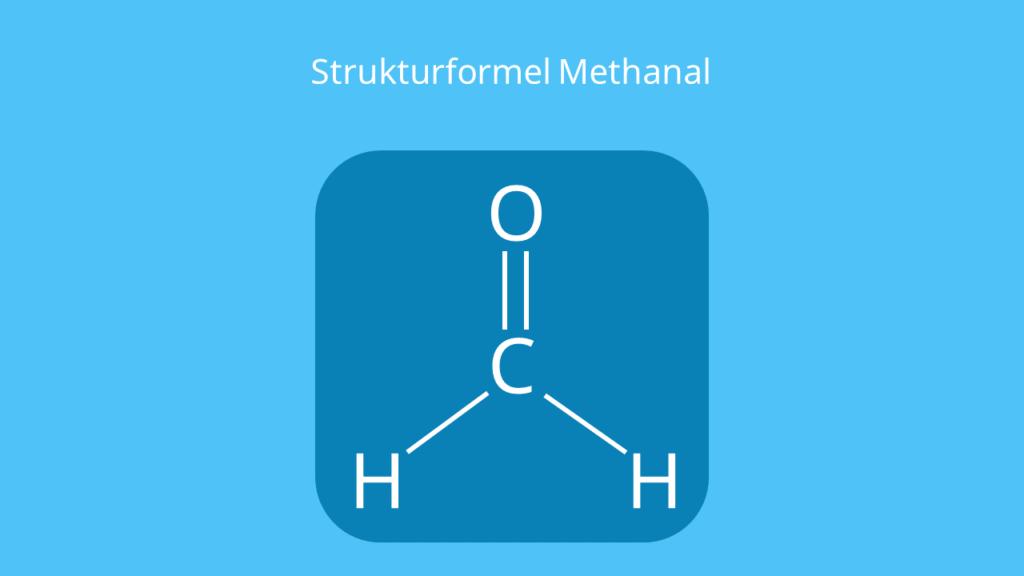 Methanal Strukturformel, Formaldehyd Strukturformel, Formaldehyde, CH2O, HCHO, H2CO