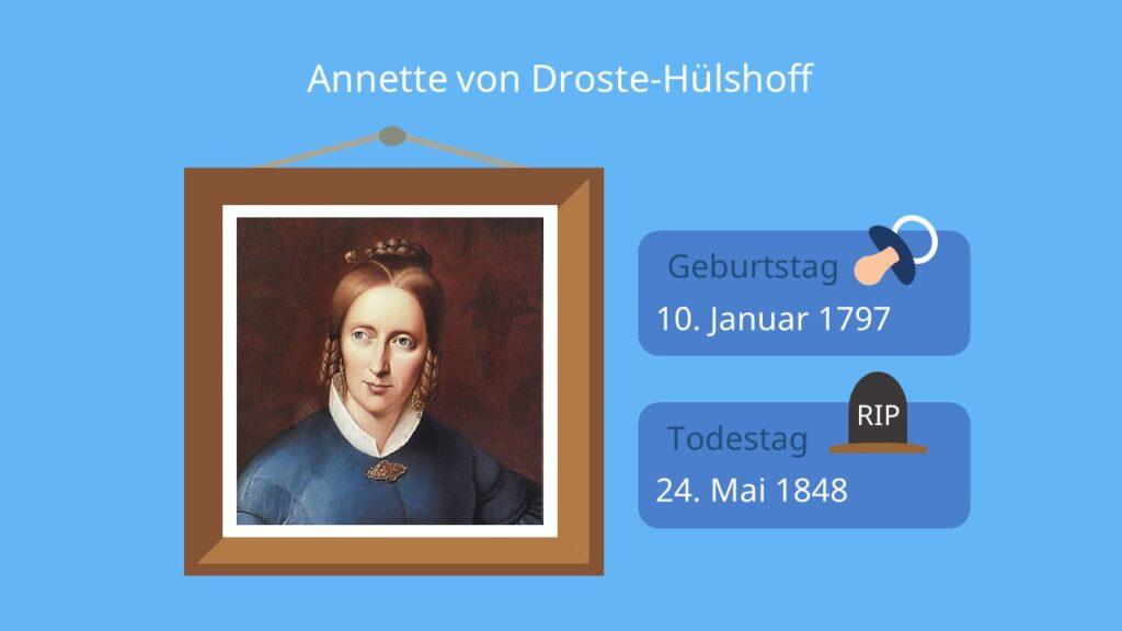 Annette von Droste-Hülshoff, die judenbuche, biedermeier, biedermeier epoche, epoche biedermeier, biedermeier literatur, biedermeier merkmale, biedermeierzeit