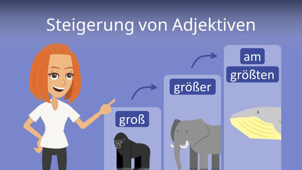 Zum Video: Steigerung von Adjektiven