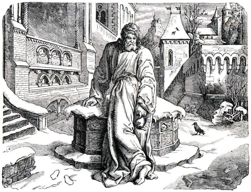 Gang nach Canossa, Canossagang, Gang von Canossa, König Heinrich IV, Heinrich 4., Laieninvestitur, Papst Gregor VII, Investiturstreit